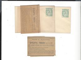 ENTIER Type Blanc Sur Enveloppe 7 X 10,7 Cm ( Carte De Visite ) 2 Sous Liasse Texte Explicatif  Du Tarif Vente 5 C 1 / 2 - France