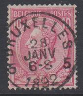 N° 46 BRUXELLES 5  - 1892 - 1884-1891 Léopold II