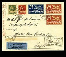 Mittelholzer-Afrikaflug 28.11.1926 Zürich Bis Napoli (selten - Rare) Mit Zu F 3+5 Mi 179-180 Yv PA3+5 - Poste Aérienne