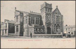 Passmore Edwards' Free Library, Camborne, Cornwall, 1903 - Argall Postcard - England