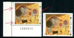 France - 3461- 1 Exemplaire Légende Fine Et Brun Jaune Pâle + 1 Normal , Neufs ** - Ref VJ101 - Abarten: 2000-09 Ungebraucht