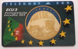 Denmark , 5 Kr ECU Portugal , P 020 , Unused - Denmark