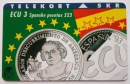 Denmark , 5 Kr ECU Spain ,  , Unused - Denmark