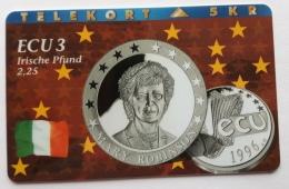 Denmark , 5 Kr ECU  3 ,Irland  , P 070 , Unused - Denmark