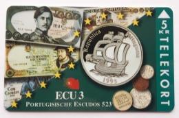 Denmark , 5 Kr ECU  3 ,Portugal  , TP 088 , Unused - Denmark