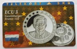 Denmark , 5 Kr ECU  3 ,Luxemburg  , P 072 , Unused - Denmark
