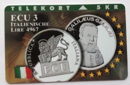 Denmark , 5 Kr ECU  3 ,Italy  ,  Unused - Denmark