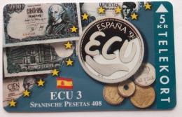 Denmark ,  ECU  3 ,Spain  ,  TP 094 Unused - Denmark