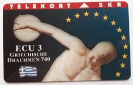 Denmark ,  ECU  3 ,Griechische Drachmen  ,   Unused - Denmark