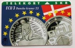 Denmark ,  ECU  3 ,Denske Kroner  ,   Unused - Denmark