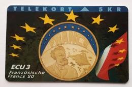 Denmark ,  ECU  3 ,France  ,  P 019 Unused - Denmark