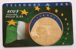 Denmark ,  ECU  3 ,Irland  ,  P 033 Unused - Denmark