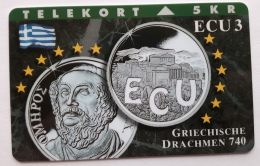 Denmark ,  ECU  3 ,Greece  ,   Unused - Denmark
