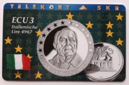 Denmark ,  ECU  3 ,Italy  ,  P 058 Unused - Denmark
