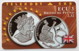 Denmark ,  ECU  3 ,Britische Pound ,  TP 049/B Unused - Denmark