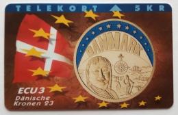 Denmark ,  ECU  3 ,Danische Kroner ,  P 048 Unused - Denmark
