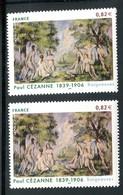 France - 3894 - 1 Exemplaire Fond Bleu + 1 Fond Violet , Neufs ** - Ref VJ105 - Errors & Oddities