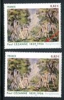 """France - 3894 - 1 Exemplaire Avec """" Brun D'herbe """" Sortant Du Cadre + 1 Normal , Neufs ** - Ref VJ106 - Variétés Et Curiosités"""