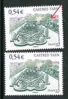 France - N° 4079 - 1 Exemplaire Avec Une Allée Blanche + 1 Normal , Neufs ** - Ref VJ108 - Variétés Et Curiosités