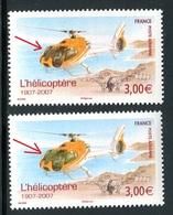 France - N° P.A.70 - 1 Exemplaire Avec Cockpit Brun  + 1 Vert , Neufs ** - Ref VJ109 - Variétés Et Curiosités