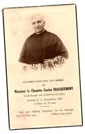 Chatillon Coligny Faire Part Décès Chanoine Braquemont - Avvisi Di Necrologio
