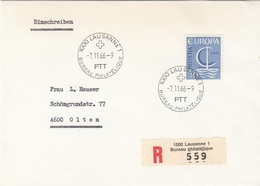 EUROPA RECO BRIEF 1966 - 50 C Helvetia Cept - Sonstige - Europa