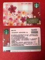 2018 China Starbucks Coffee Sakura Gift Card ¥100 - China