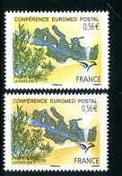 France - N° 4422 - 1 Exemplaire Jaune + 1 Normal Orange, Neufs ** - Ref VJ114 - Abarten: 2000-09 Ungebraucht