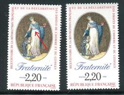 France - N° 2575 - 1 Exemplaire Ceinture Bleue Et Rouge + 1 Normal Rouge, Neufs ** - Ref VJ115 - Errors & Oddities
