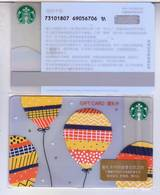 Starbucks 2018 China Joyous Balloons SVC Gift Card RMB100 - China
