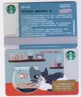 2018 China Starbucks Coffee Cat Whispering To Fish Gift Cards RMB100 - China