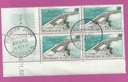 ABIDJAN COTE D IVOIRE 25f BARRAGE AYAME PREMIER JOUR 18 NOV 1961 Coin Date 4 NOV 1960 N22 - Ivory Coast (1960-...)