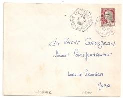 Hexagonal Tireté L'ESCALE Basses Alpes Pour LONS LE SAUNIER Jura. - Postmark Collection (Covers)