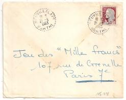 Cachet Tireté NEUVILLALAIS Sarthe. - Postmark Collection (Covers)