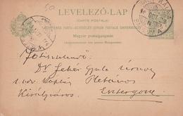 Entier Postal 1923 Hongrie Esztergom Magyarország Kalná Nad Hronom Nagykálna - Postwaardestukken