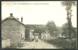 71 LE CADOLON  ( SAÔNE- ET- LOIRE ) ANIMEE...ROUTE DE ST- CLAUDE.....C2616 - France