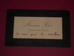 MARINE XIXe - Autographe Carte De Visite François SERES Lieutenant De Vaisseau (Tonkin Chine Comores Etc.) - Autographes