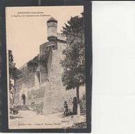 83 ANSOUIS - L'Eglise Et L'éperon Du Château - Ansouis