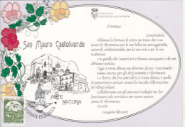 70740- SAN MAURO CASTELVERDE, SPECIAL POSTCARD, CASTLE STAMP, 1999, ITALY - 1946-.. République