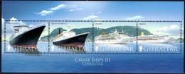 Gibraltar 2007  Yvertn° Bloc 80 *** MNH Cote 10 Euro Cruise Ships Bateaux Boten - Gibraltar