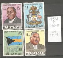 Bahamas, Année 1973, Indépendance, N° Yvert = 336-9, Neufs ** - Bahamas (1973-...)