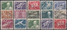 SUECIA 1936 Nº 235/46 + 235a/37a USADO - Sweden