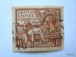 GREAT BRITAINS 1924, King George V, British Empire Exhibition, 1 1/2 P. Three Half Pence. SG 431. Used. - 1902-1951 (Koningen)
