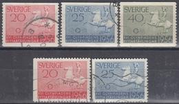 SUECIA 1956 Nº 406/06 + 406a/407a USADO - Sweden