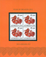 Azerbaïjan 2012 Mih. 912 Year Of Dragon (M/S) MNH ** - Azerbaïjan