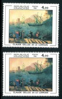 France - N° 2211 - 1 Exemplaire Fond Jaunâtre + 1 Normal Orangé , Neufs ** - Ref VJ127 - Varietà E Curiosità