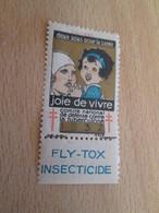 TIMBRE OU VIGNETTE ANNEE 1932 ANTI TUBERCULOSE DEPARTEMENT CALVADOS + FLY-TOX - Viñetas De Fantasía
