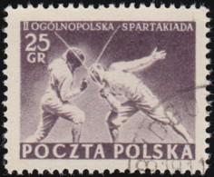 POLAND - Scott #628 Fencing / Used Stamp - Escrime