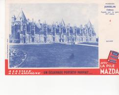 Buvard La Pile MAZDA Série Chateau N° 6 JOSSELIN - Piles