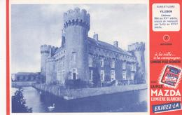 Buvard La Pile MAZDA Série Chateau N° 7 VILLEBON - Piles